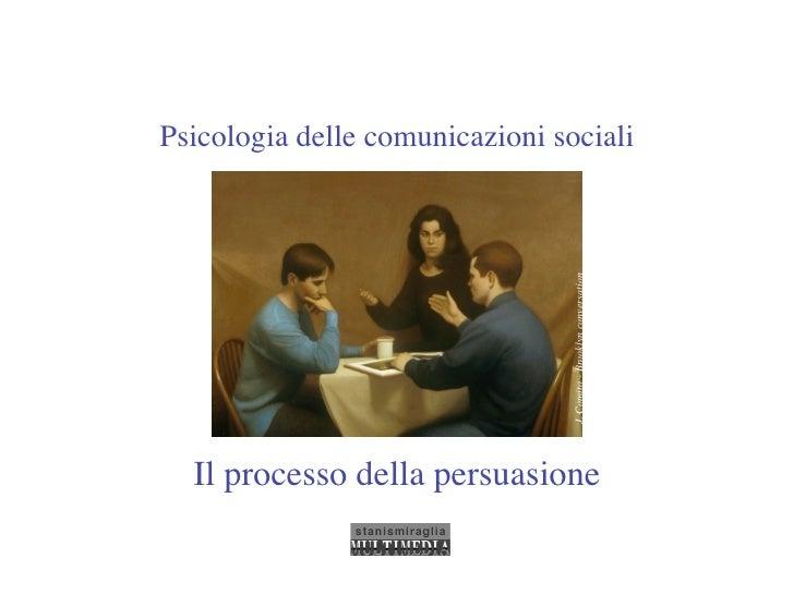 Psicologia delle comunicazioni sociali                                      J. Comito - Brooklyn conversation   Il process...