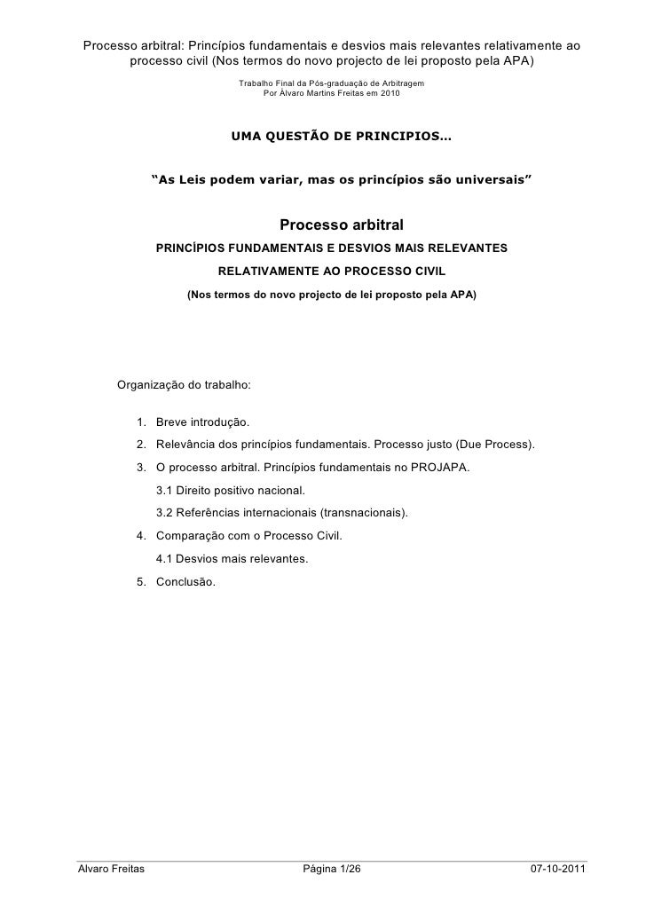 Processo Arbitral vs Processo Civil_PT_2010