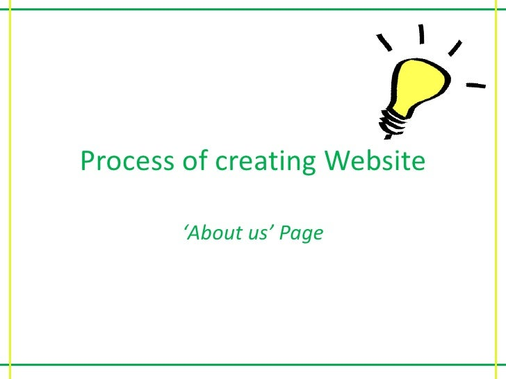 Process of Creating my Page for Website