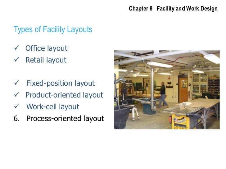 Chapter 8   Facility and Work Design<br />Types of Facility Layouts<br /><ul><li>Office layout