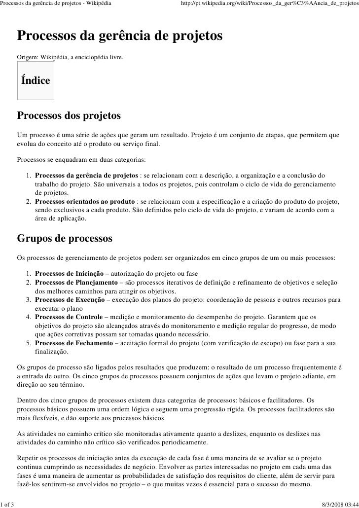 Processos da gerência de projetos - Wikipédia                    http://pt.wikipedia.org/wiki/Processos_da_ger%C3%AAncia_d...