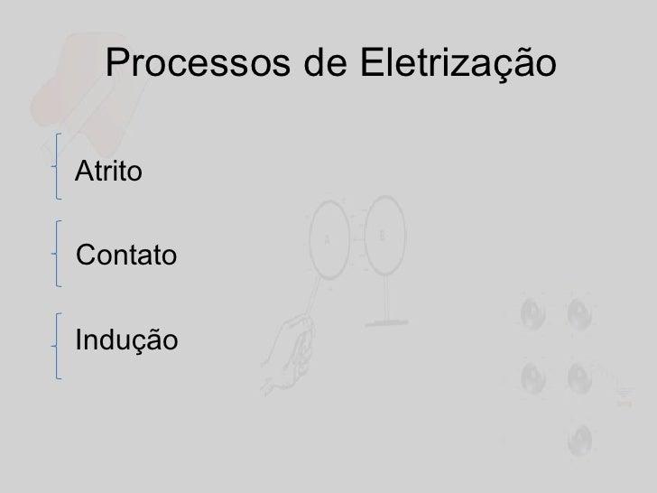 Processos de Eletrização<br />   Atrito<br />Contato<br />    Indução<br />