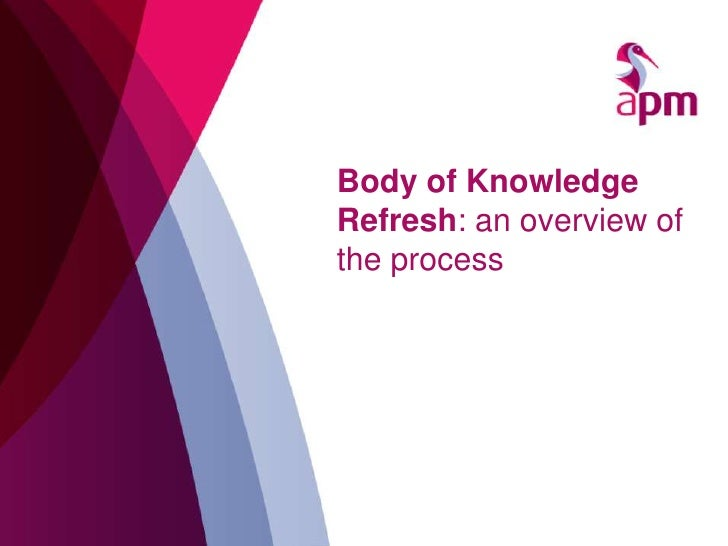 APM Body of Knowledge Refresh Process Overview