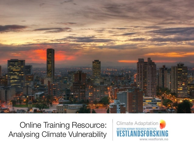 Process stage 1 Analysing climate vulnerability  institutional