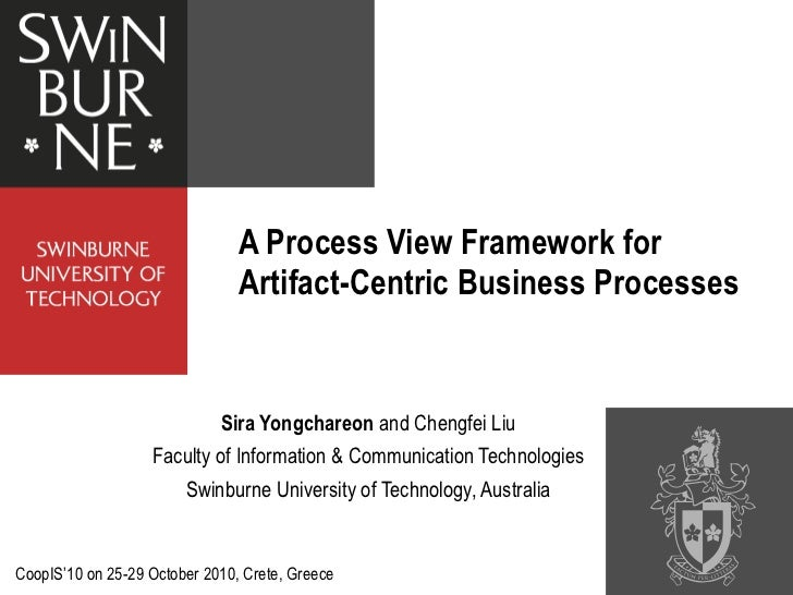 Process view framework for artifact centric business processes