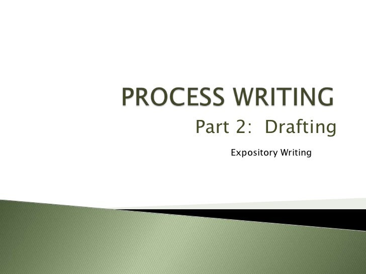 Part 2: Drafting    Expository Writing