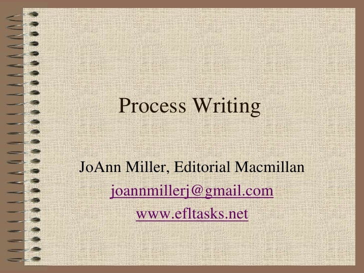 Process Writing<br />JoAnn Miller, Editorial Macmillan<br />joannmillerj@gmail.com<br />www.efltasks.net<br />