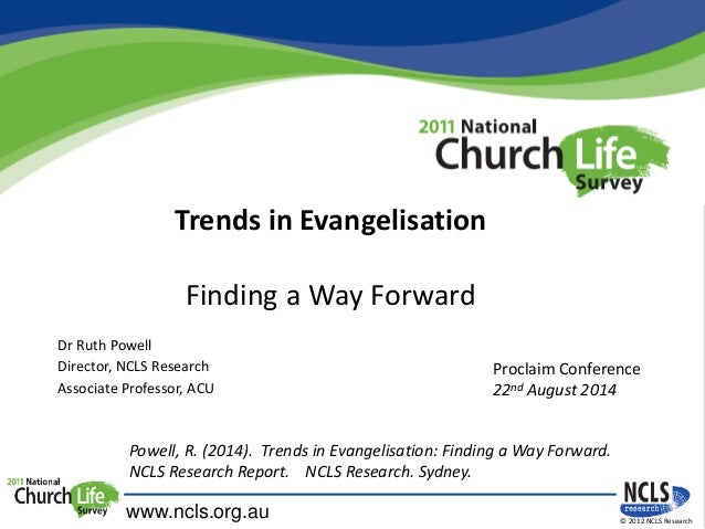 Finding a Way Forward - Dr Ruth Powell - Friday 22 Aug, Proclaim 2014