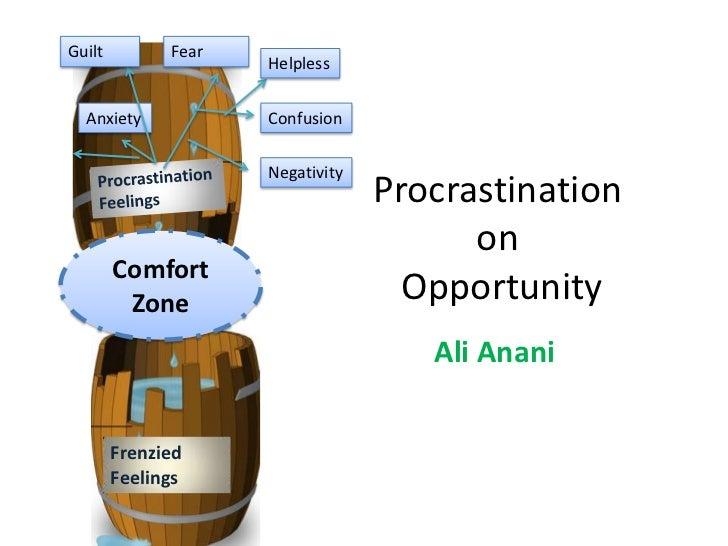 Procrastination on opportunities