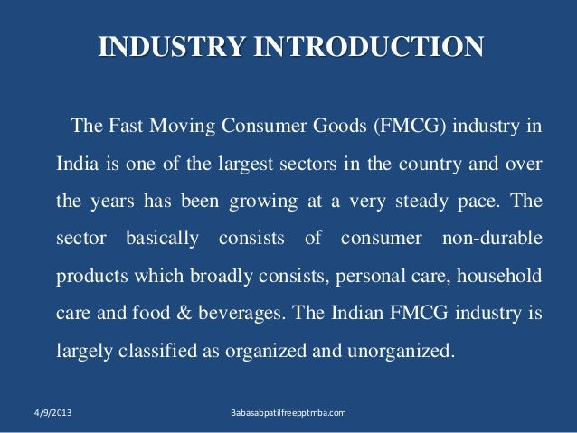 fast moving consumer goods essay Channel strategies in the fmcg sector marketing essay management development institute gurgaon 122 007 january, 2013 the fast moving consumer goods (fmcg).