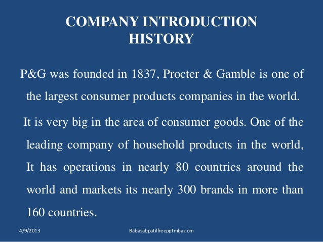 procter gamble p and g marketing essay Free essay: executive summary proctor and gamble (p&g) over its journey of about 175 years has become one of the world's largest consumer goods company.