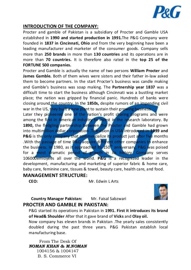 Procter N Gamble By Noman Khan