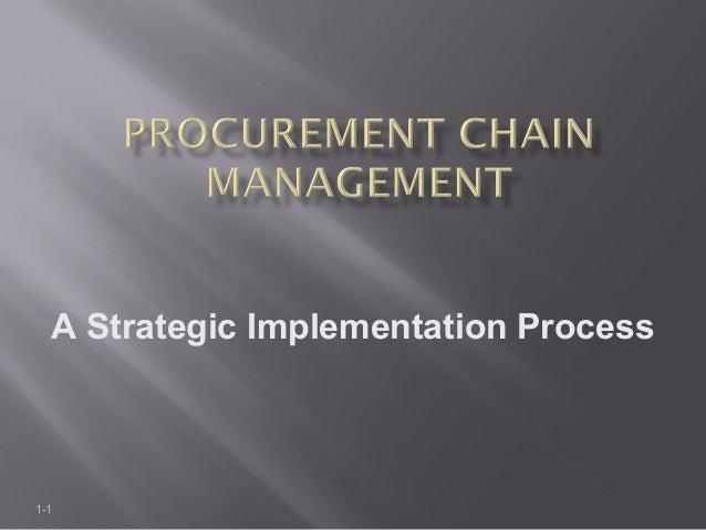 Procurement chain management PJM400 Module1