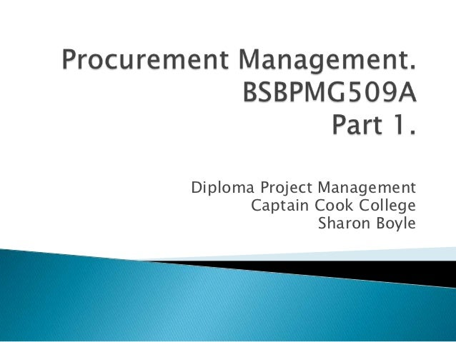Procurement part 1.