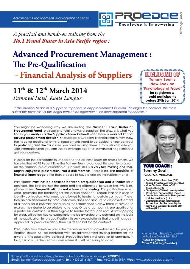 Procurement Fraud - Financial Pre-Qualification