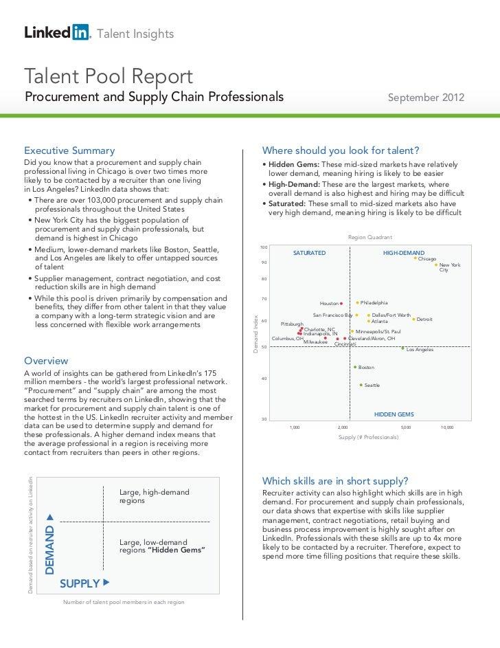 2012 US Procurement & Supply Chain | Talent Pool Report