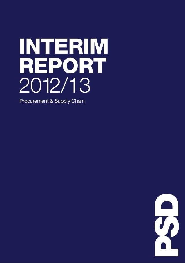 INTERIM REPORT 2012/13Procurement & Supply Chain
