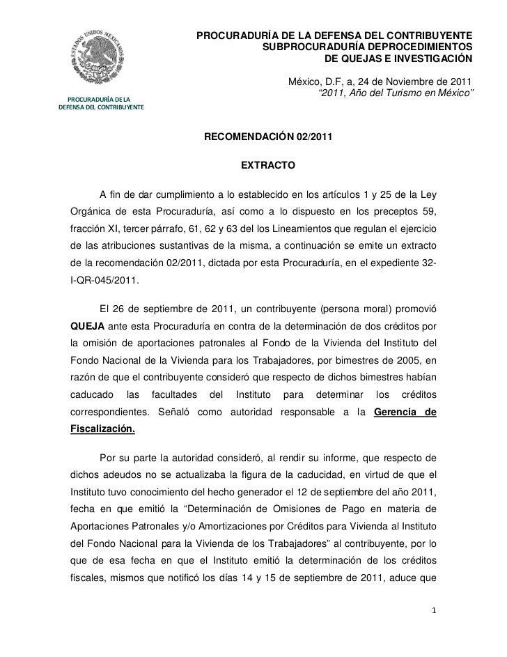 PROCURADURÍA DE LA DEFENSA DEL CONTRIBUYENTE                                              SUBPROCURADURÍA DEPROCEDIMIENTOS...