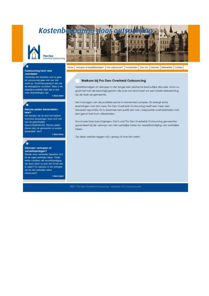 TGJ Communicatie Pro Deo Overheidsoutsourcing webdesign en teksten