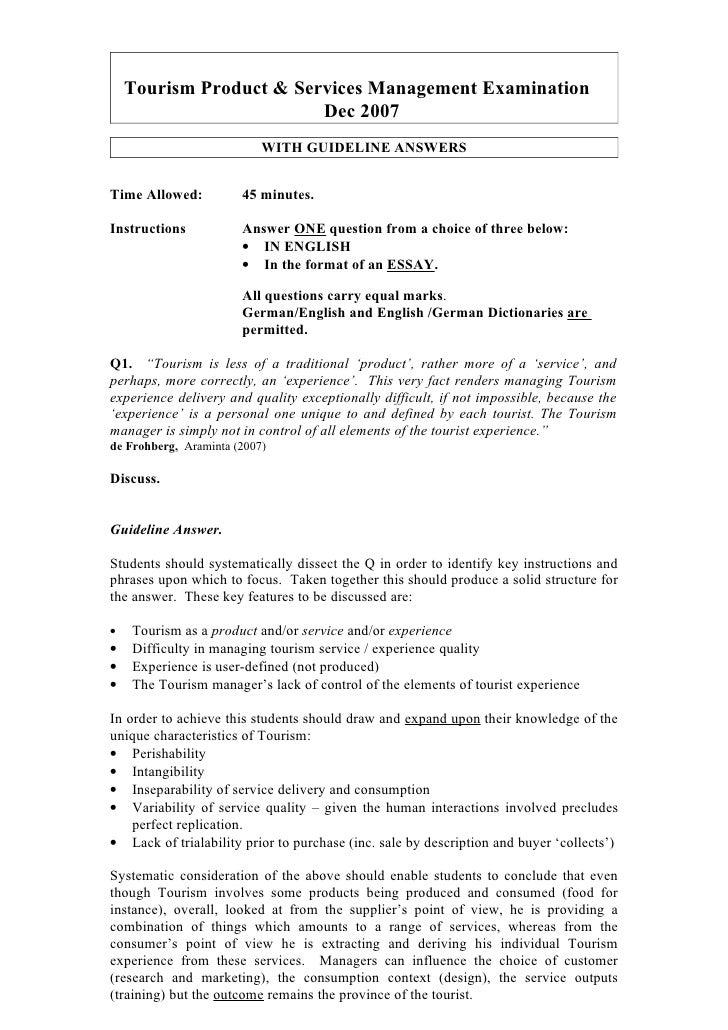 Prod Ser Man Exam Dec 07 Inc Gline Ans