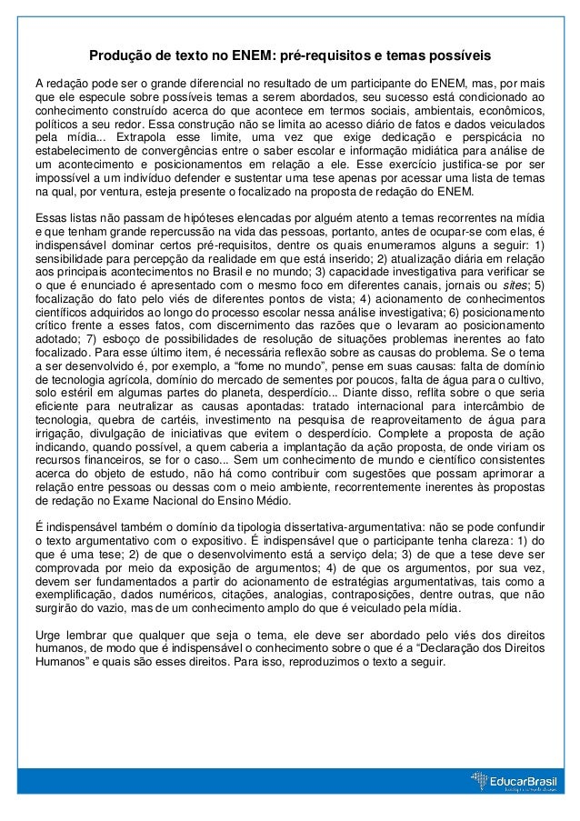 Producao de texto_no_enem_pre_requisitos_e_temas_possiveis