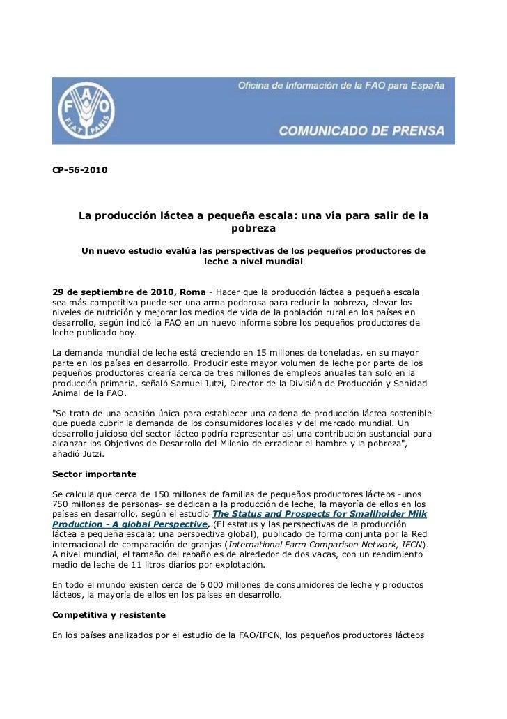 CP-56-2010      La producción láctea a pequeña escala: una vía para salir de la                                pobreza    ...