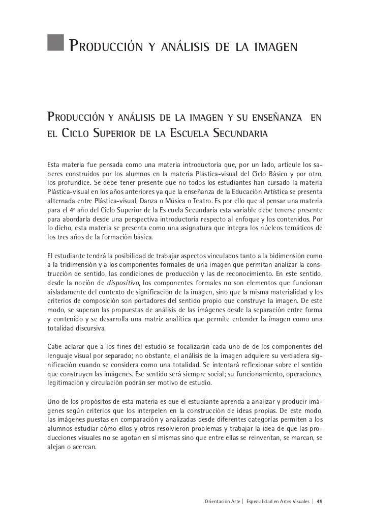 Producción                  y análisis de la imagenProducción y análisis de la imagen y su enseñanza                      ...