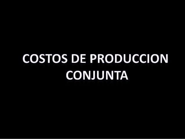 Produccion conunta