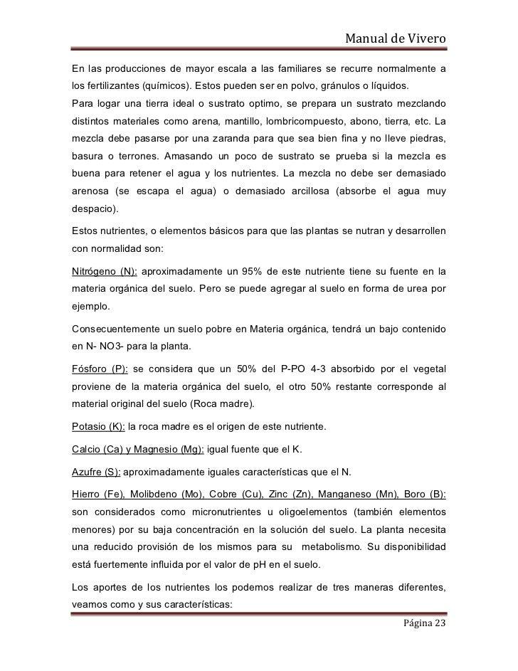 Produccion de plantas ornamentales for Mantillo o sustrato