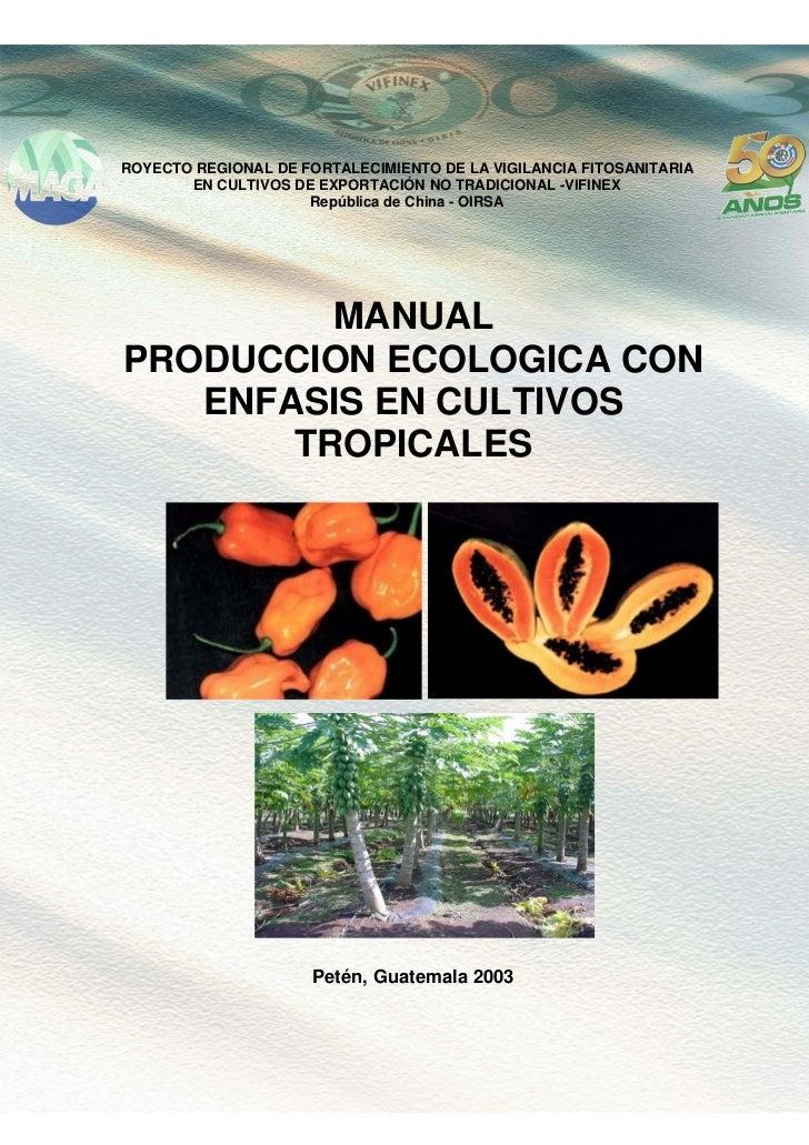 Produccion ecologicacultivostropicales