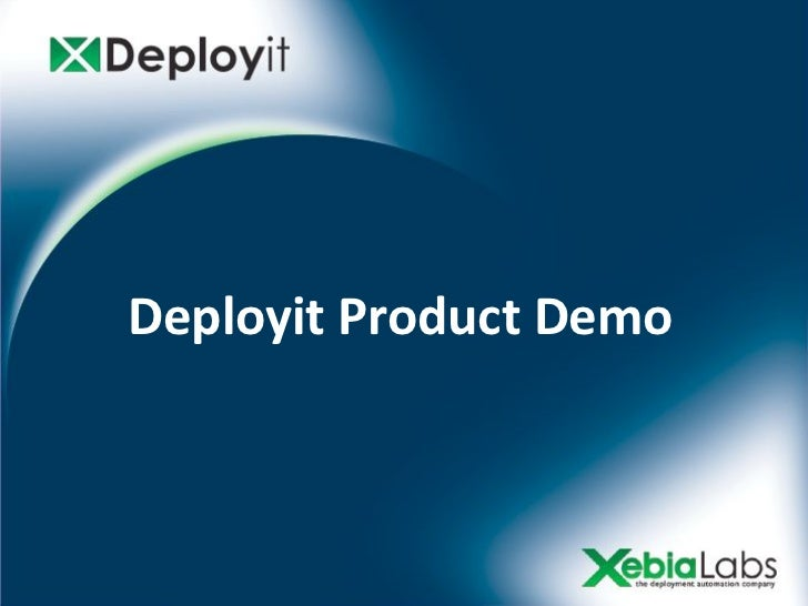 Deployit Product Demo