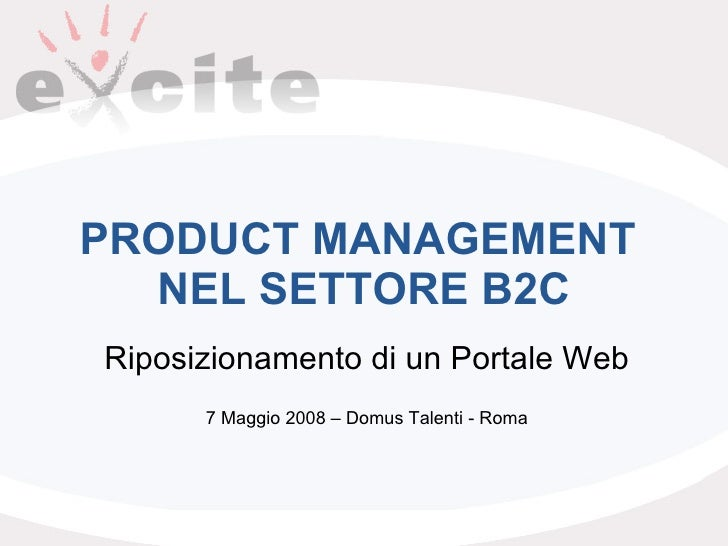 Product Management Nel Settore Business To Consumer