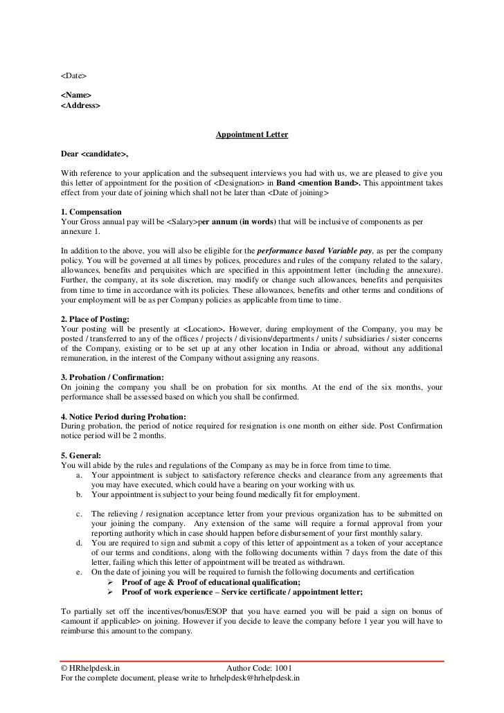 Reformulation Letter Example