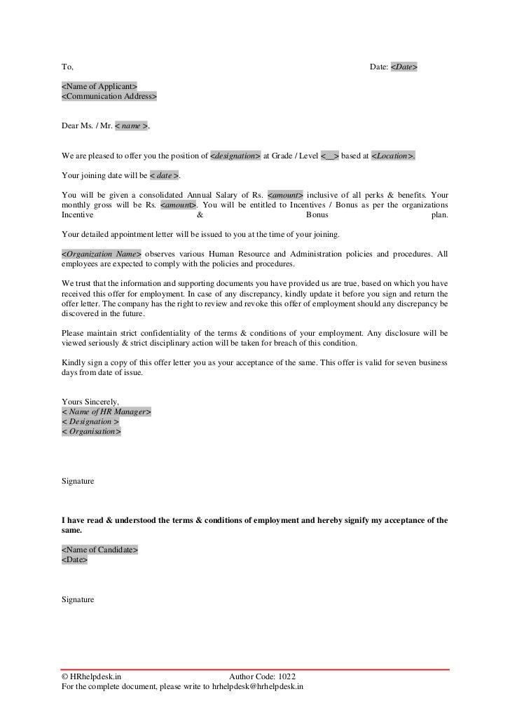 Product 5 Offer Letter Ver 1