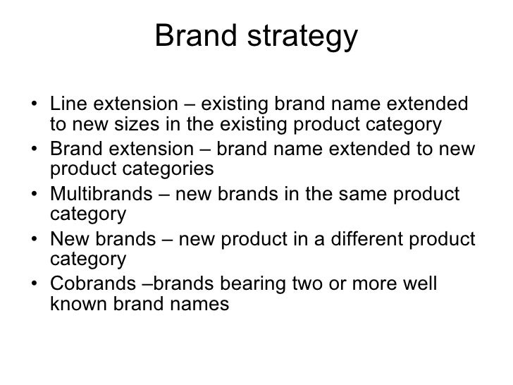 Category Brand Extension