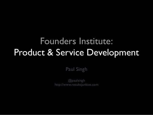 FI: Product and Service Development