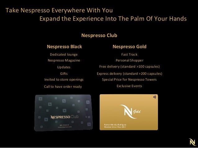 Marketing Plan for Nespresso -> Nespresso Club