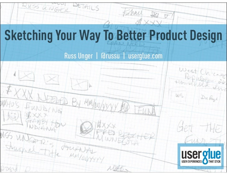 Sketching Your Way To Better Product Design           Russ Unger | @russu | userglue.com
