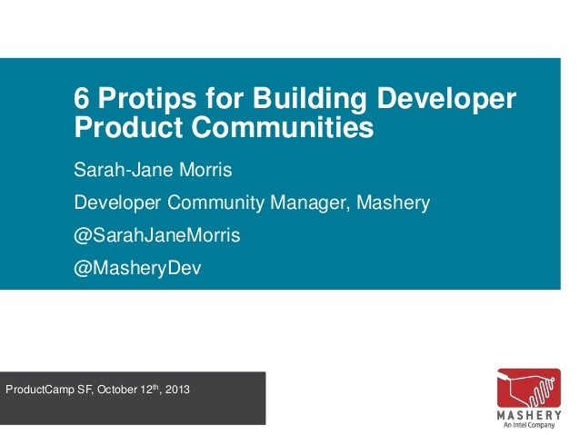 6 Protips for Building Developer Product Communities