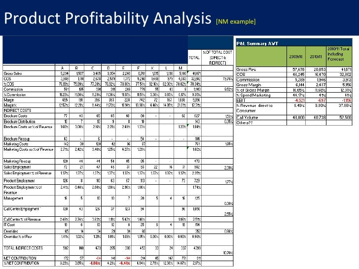 profitability analysis template
