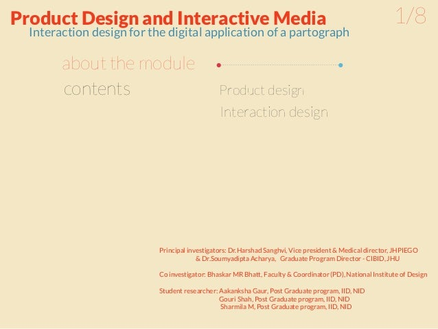 Product Design and Interactive Media                                                                      1/8  Interaction...