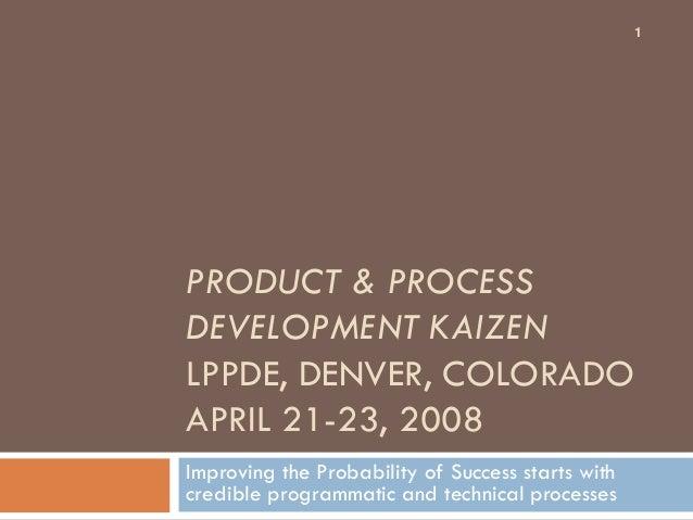 Product  development kaizen (pdk)
