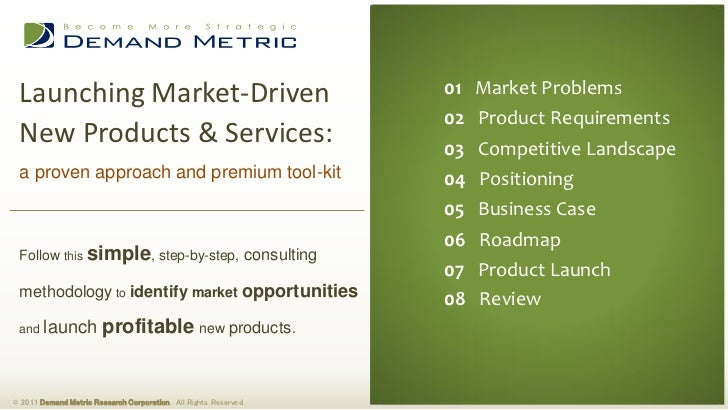 Product Development Strategy Methodology & Tool-Kit