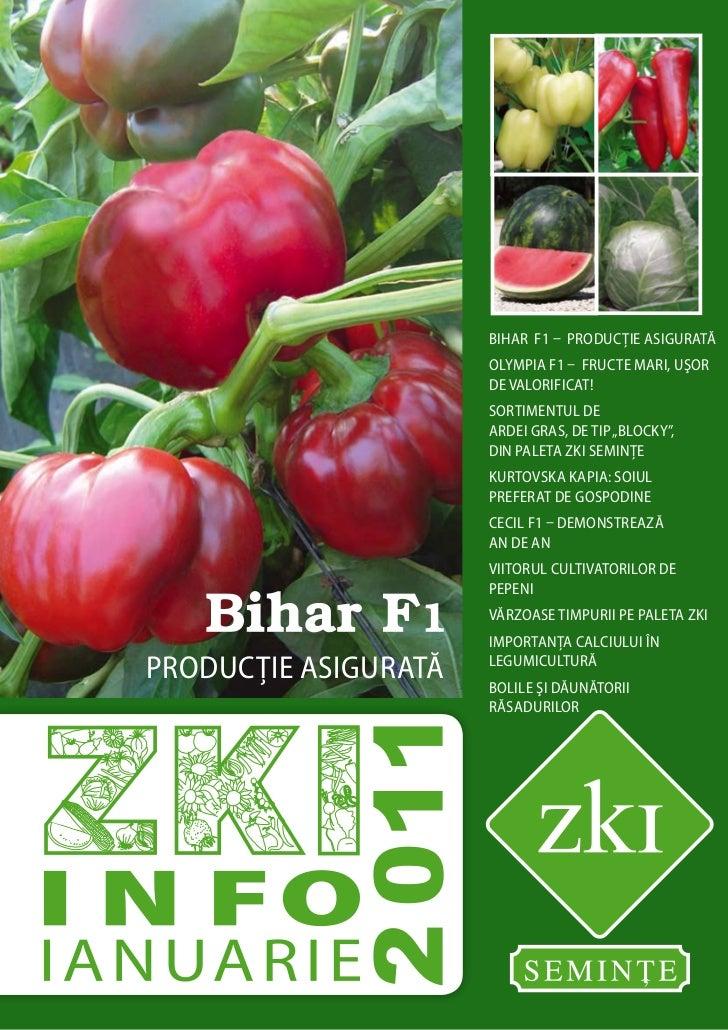 bihar F1 – producţie asigurată                      OLYMPIA F1 – fructe mari, uşor                      de valorificat!   ...
