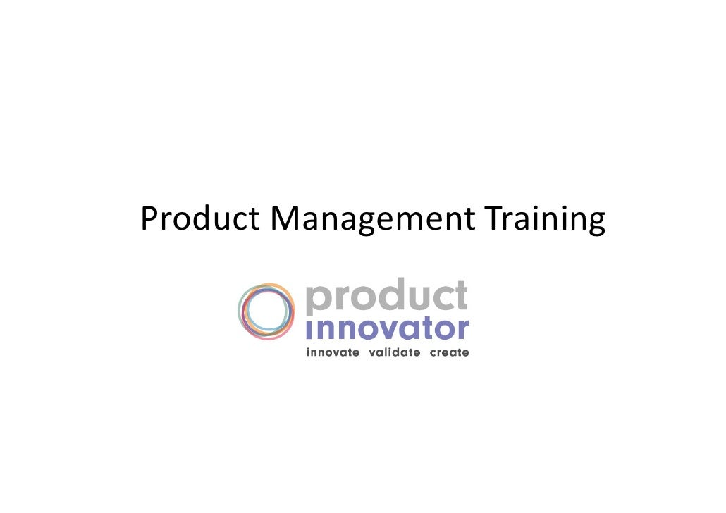 Product innovator product_management_training