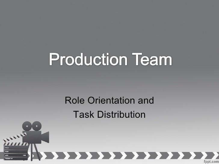 Role Orientation and Task Distribution