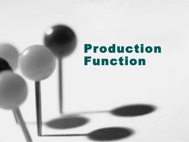 Pr oduction Function