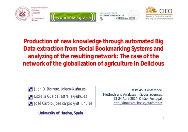 11 Production of new knowledge through automated Big Data extraction from Social Bookmarking Systems and analyzing of the ...