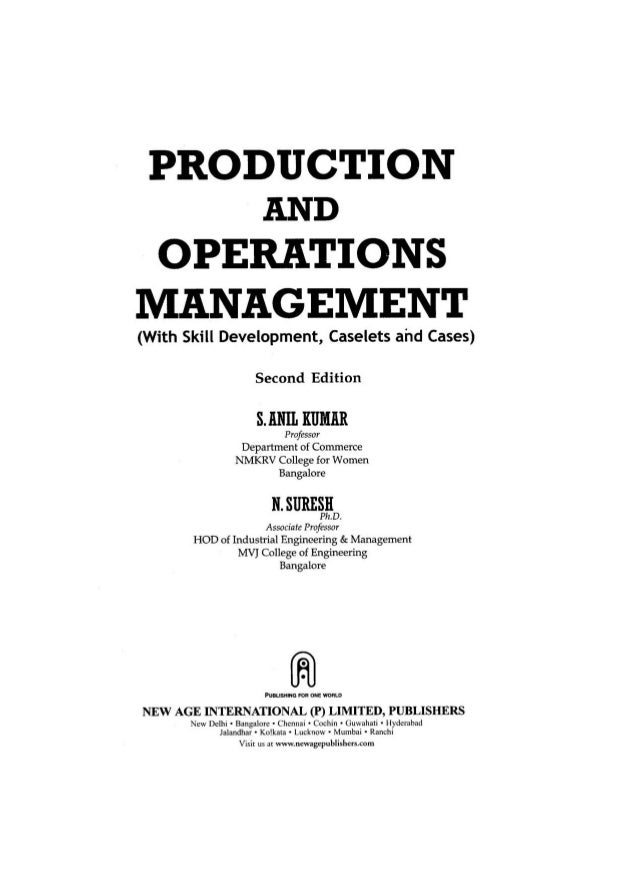 Operations Management business thesis statement examples