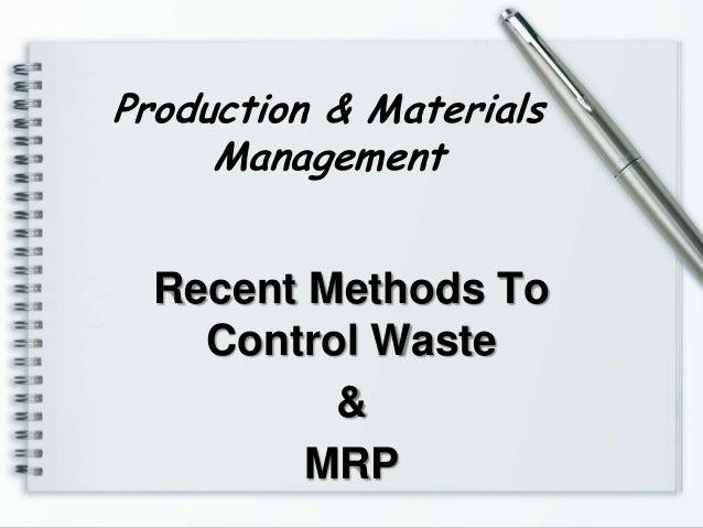 Production & materials management